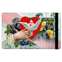 Vintage Valentine Apple iPad 3/4 Flip Case