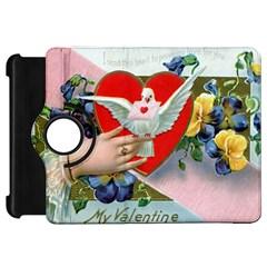 Vintage Valentine Kindle Fire HD 7  (1st Gen) Flip 360 Case