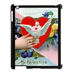 Vintage Valentine Apple iPad 3/4 Case (Black)