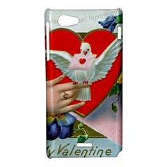 Vintage Valentine Sony Xperia J Hardshell Case