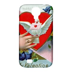Vintage Valentine Samsung Galaxy S4 Classic Hardshell Case (PC+Silicone)