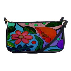 Wild Garden Abstract Floral Shoulder Clutch Purse Evening Bag