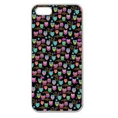 Happy Owls Apple Seamless Iphone 5 Case (clear)