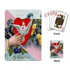 Vintage Valentine Playing Cards Single Design