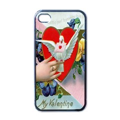 Vintage Valentine Apple iPhone 4 Case (Black)