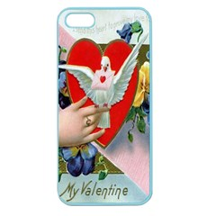 Vintage Valentine Apple Seamless iPhone 5 Case (Color)