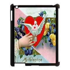 Vintage Valentine Apple iPad 3/4 Case (Black)