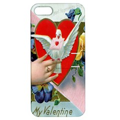 Vintage Valentine Apple iPhone 5 Hardshell Case with Stand
