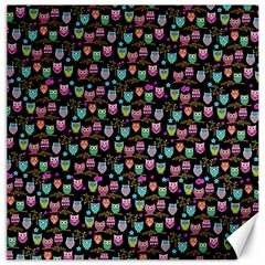 Happy Owls Canvas 16  x 16  (Unframed)