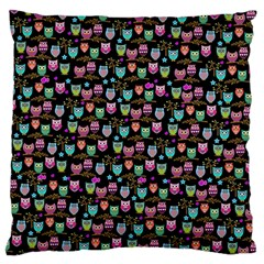 Happy Owls Large Cushion Case (Single Sided)