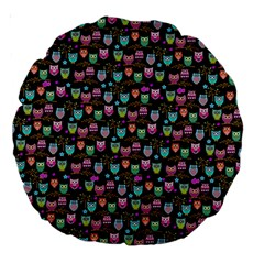 Happy Owls 18  Premium Round Cushion