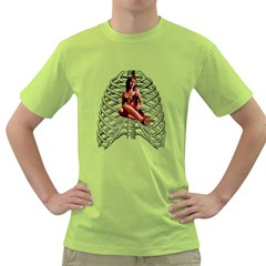 Eat Your Heart Out Mens  T-shirt (Green)