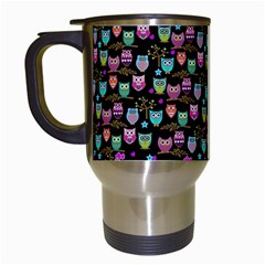Happy Owls Travel Mug (white)