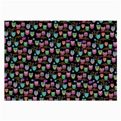 Happy Owls Glasses Cloth (large, Two Sided)