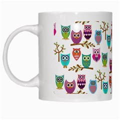 Happy Owls White Coffee Mug