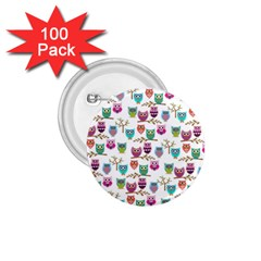 Happy Owls 1.75  Button (100 pack)