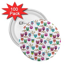 Happy Owls 2.25  Button (100 pack)