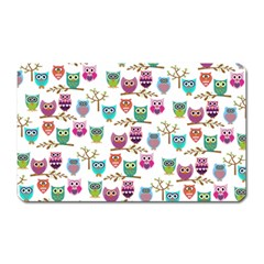 Happy Owls Magnet (Rectangular)