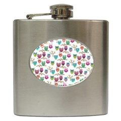 Happy Owls Hip Flask