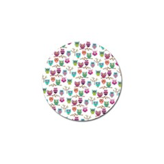Happy Owls Golf Ball Marker 10 Pack