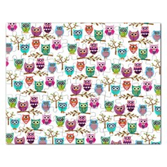 Happy Owls Jigsaw Puzzle (Rectangle)