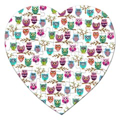 Happy Owls Jigsaw Puzzle (heart)
