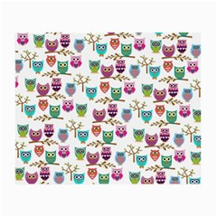 Happy Owls Glasses Cloth (small, Two Sided)