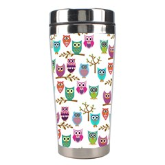 Happy Owls Stainless Steel Travel Tumbler