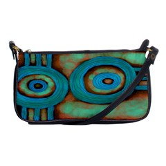 Turquoise Abstract Art Clutch Handbag Evening Bag