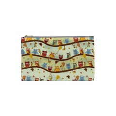 Autumn Owls Cosmetic Bag (Small)