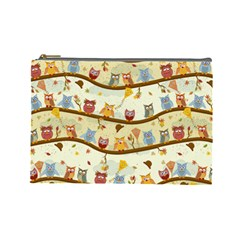 Autumn Owls Cosmetic Bag (Large)