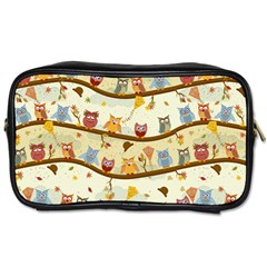 Autumn Owls Travel Toiletry Bag (two Sides)
