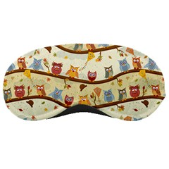 Autumn Owls Sleeping Mask