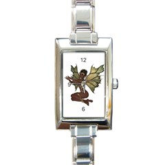Faerie Nymph Fairy with outreaching hands Rectangular Italian Charm Watch