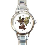 Faerie Nymph Fairy with outreaching hands Round Italian Charm Watch Front