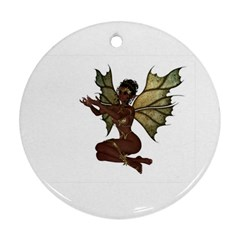 Faerie Nymph Fairy With Outreaching Hands Round Ornament