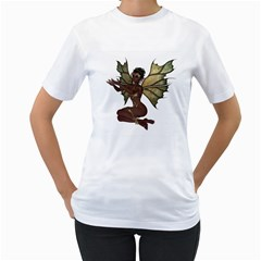 Faerie Nymph Fairy With Outreaching Hands Womens  T Shirt (white)