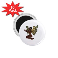 Faerie Nymph Fairy With Outreaching Hands 1 75  Button Magnet (10 Pack)