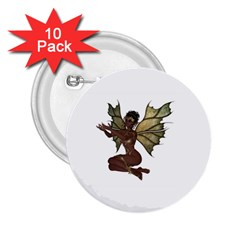 Faerie Nymph Fairy With Outreaching Hands 2 25  Button (10 Pack)
