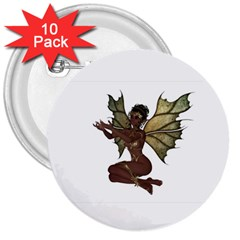 Faerie Nymph Fairy with outreaching hands 3  Button (10 pack)