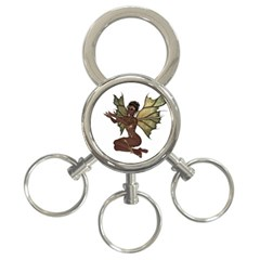 Faerie Nymph Fairy with outreaching hands 3-Ring Key Chain