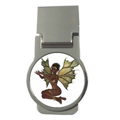 Faerie Nymph Fairy With Outreaching Hands Money Clip (round)