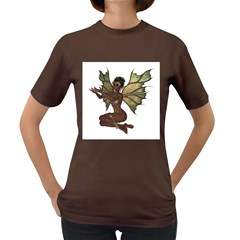 Faerie Nymph Fairy With Outreaching Hands Womens' T Shirt (colored)