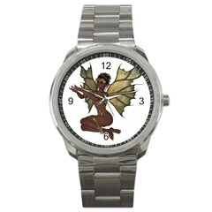 Faerie Nymph Fairy with outreaching hands Sport Metal Watch