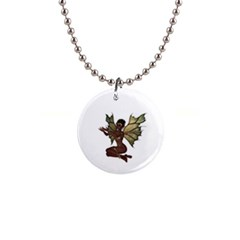 Faerie Nymph Fairy with outreaching hands Button Necklace