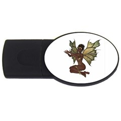 Faerie Nymph Fairy With Outreaching Hands 4gb Usb Flash Drive (oval)