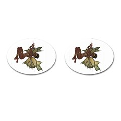 Faerie Nymph Fairy with outreaching hands Cufflinks (Oval)