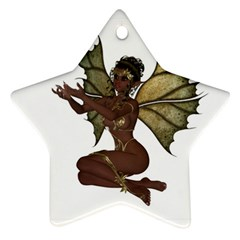 Faerie Nymph Fairy With Outreaching Hands Star Ornament (two Sides)