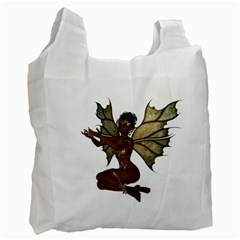 Faerie Nymph Fairy With Outreaching Hands Recycle Bag (two Sides)