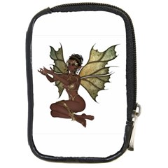 Faerie Nymph Fairy With Outreaching Hands Compact Camera Leather Case